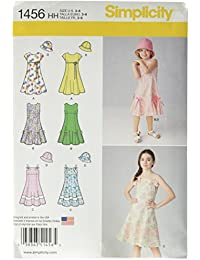 Simplicity US1456HH Size HH Child's and Girl's Dress with Bodice and Hat