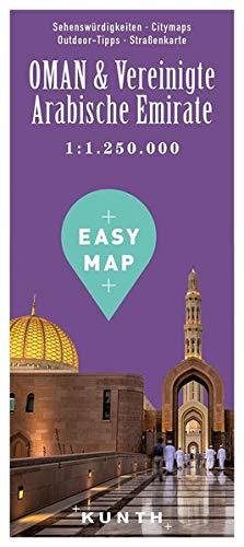 EASY MAP Oman & Vereinigte Arabische Emirate: 1:1.250.000 / 1:300.000 (KUNTH EASY MAP)