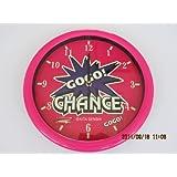 Jongleur GOGO! CHANCE phosphorescent horloge murale rose