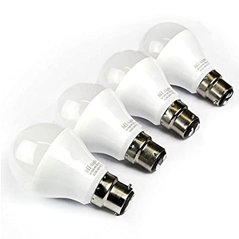 Mi-Light Expansion Pack: 4 x B22 6W 230V 1.6 Million Colour Warm White Bulbs for Mi-Light Dimmable Wi-Fi, 2.4Ghz RF Remote, Android and iPhone Control System [Energy Class A]
