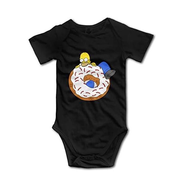 Homer-Simpson Newborn GILR Boy Kid Mameluco del bebé Mono de Manga Corta para bebés y niños pequeños 1