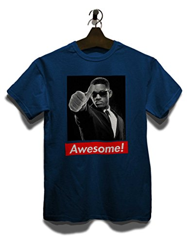 Awesome 50 T-Shirt Navy Blau