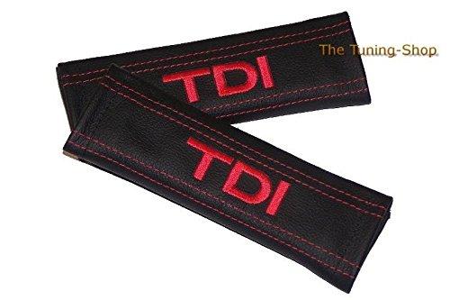 2x cintura cover imbottito spalla in pelle nero rosso TDI Edition (Mazda 6 Oem Sostituzione)