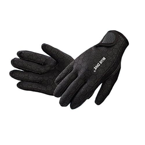 Befaith Unisex Wasserdichte 1.5mm 6 Finger Stretch Neopren Handschuhe für Schwimmen Tauchen (Stretch-handschuhe Weiche)