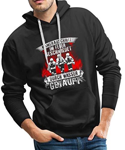 feuerwehr sweatshirt Spreadshirt Feuerwehr Kameradschaft Im Feuer Geschmiedet Männer Premium Hoodie, M, Schwarz