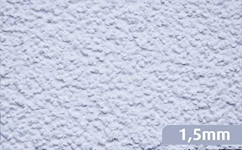 RyFo Colors Kratzputz 1,5mm MUSTER 8x5cm weiß - weitere Strukturen und Körnungen wählbar, Musterstück, Fertigputz für innen und außen, Oberputz, Edelputz, witterungsbeständig, zertifiziert