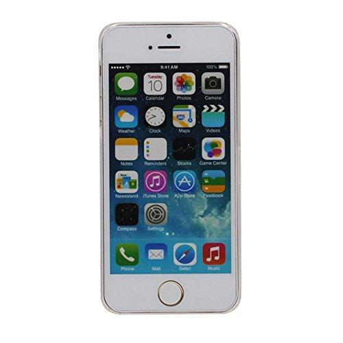Schutzhülle Für Apple iPhone 5 5S SE Hülle Cover Bling Pulver Sterne Fließen Hart Transparent Flüssiges Wasser Fließen iPhone SE Case X 1 Silikon Halter rosa-1