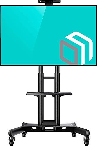 ONKRON TV Ständer mit Rollen Fernsehständer Standfuß mit Höhenverstellbar für 32