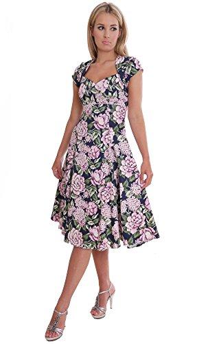 MontyQ Elegantes Damen Sommerkleid Festlicher Anlass Cocktail Party Kleid