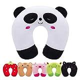 Cuscino da Viaggio per Bambini H HOMEWINS Cuscino Cervicale Ultra Morbido Cuscino Cervicale Animali per Dolori Cervicali Sonno per Seggiolino Auto RAV Aereo (Panda)