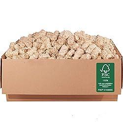 ORANGE DEAL 5,0 kg FSC® Kamin- und Grillanzünder Anzünder (Ofenanzünder, Anzündwolle, Anzündhilfe) aus Premium Holzwolle und Wachs - schnell und stark