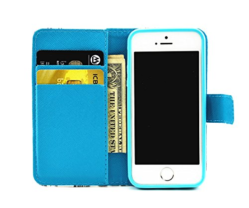 inShang Hülle für iPhone SE, SUPER PU Leder Tasche Hülle Skins Etui Schutzhülle Ständer Smart Case Cover für iPhone SE Cell Phone Displayschutzfolie Bildschirmschutzfolie, Handy , candle
