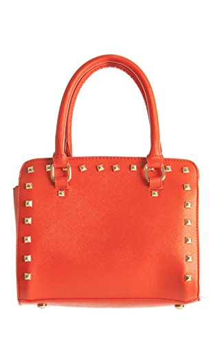 IKRUSH Womens Online Cheap Fashion Black Studded Handbag red