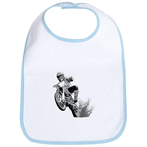 CafePress–Dirtbike Crossbike Wheeling in Mud–Lätzchen, Blau