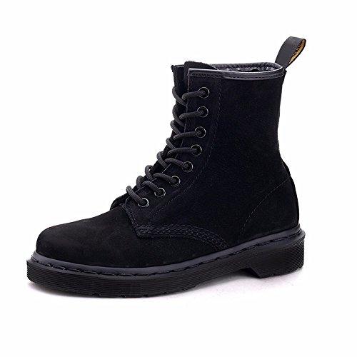 HXVU56546 Inverno In Pizzo Stivali Di Cotone Caldo Velluto Plus Stivali Scarpe Ispessita Martin Snow Boots black
