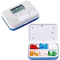 Pill Box, Intelligentes Timing + Digitaler Sprachalarm, Mit Erinnerungsfunktion, Tragbares Mini-Handgepäck (Blau... preisvergleich bei billige-tabletten.eu