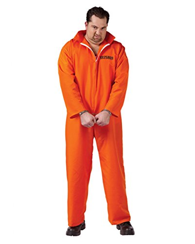 US Gefangener Kostüm XL (Sträfling Plus Size Kostüme)