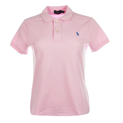 Ralph Lauren Damen Kurzarm Polo Shirt Mesh Fit (Rosa, S) (S/s Mesh-polo-shirt)