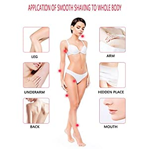 MARSKE MS-2213 Trimmer IPX7 Waterproof Men Ladies Shaver Eyebrow Nose and Bikini Trimming Multi-Functional Women Facial Hair Trimmer,Pink