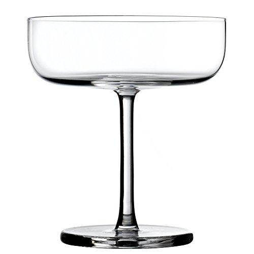 Cristal de Sèvres Horizon Set de Verres de Champagne 11x11x12 cm Transparent