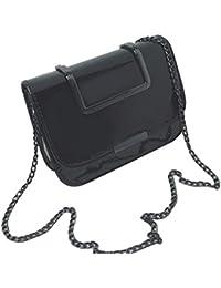 6f1fcbf6ad85 Women s Fashion Flap Bag Patent Leather Handbag Crossbody Shoulder Bag