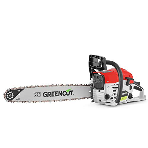 """Greencut GS6800 22 - Tronçonneuse thermique 68cc 3,9cv 3,9cv lame 22"""" legere puissante"""
