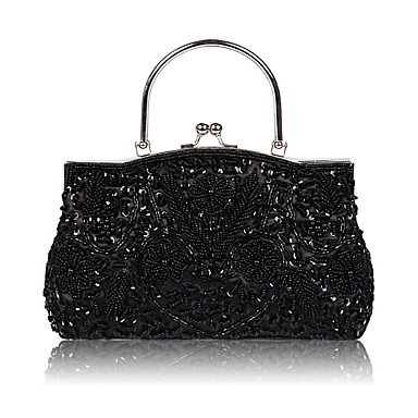 pwne L. In West Woman Fashion Perlen Abendtasche Black
