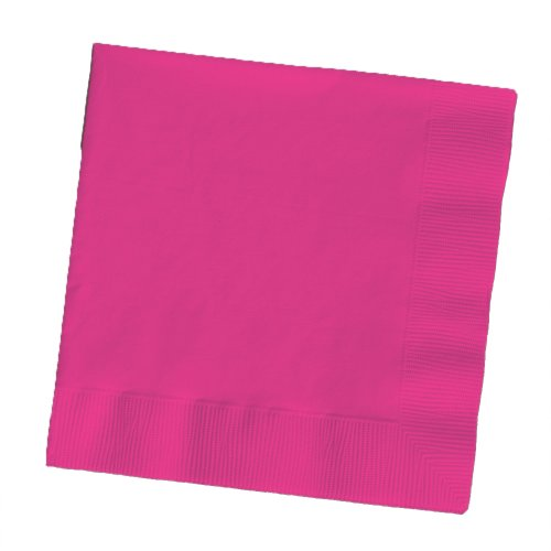 Creative Converting 50Zählen Touch von Farbe Papier Getränke Servietten, burgund Hot Magenta