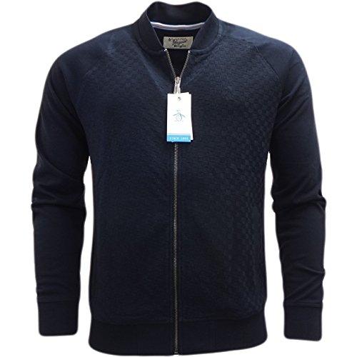 original-penguin-hombre-geo-jacquard-zip-track-jacket-azul-medium