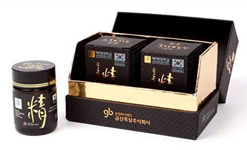 Ginseng schwarz Coreen Extrakt Wurzeln 100 g - Coffret 2 Flaschen Glas 50 g -