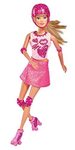 Simba 105733268 Spielpuppe, Mehrfarbig (Rollschuhen Barbie Mit)