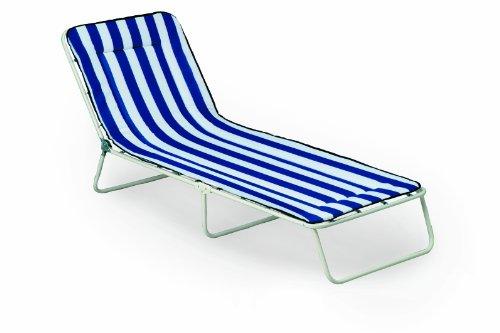 Best Chiemsee Chaise transat à Trois Pieds 60 x 180 x 23 cm Blanc