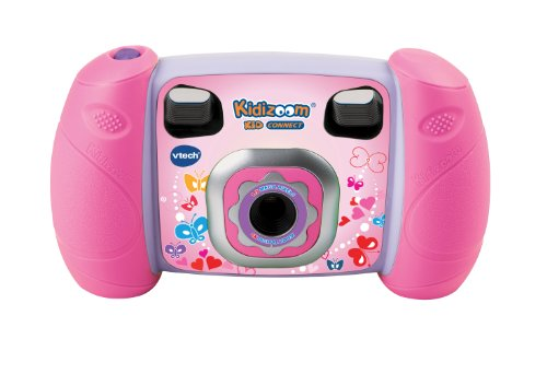 "VTech Kidizoom Kid Connect - Cámara de fotos digital, (cable USB, 1.3 MP, LCD 1.8""), color rosa ( 140755) (versión en francés)"