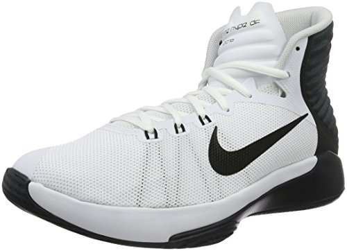 Nike Prime Hype Df 2016, Chaussures de Basketball Homme Blanc (White/Black/Anthracite/Pure Platinum)