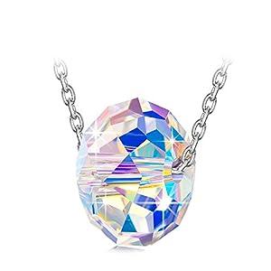 Alex Perry Schones Leben Serie Damen Halskette, 925 Sterling Silber Farbe, Kristall von Swarovski, Kabelkette, Exquisite Geschenkbox