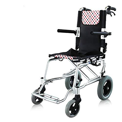 Nayayar Starke Aluminiumlegierung, Rollstuhl-Faltbarer Leichter Ultra Leichter Alter Laufkatzen-Alter Mann-Roller-tragbarer Vertrag -
