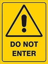 999Store Do not Enter Office Sign Board Sticker (15x20 cms)