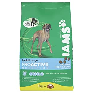 IAMS Adult Senior and Mature 7+ Chicken Dry Dog Food 3 kg (Pack of 3) by Procter & Gamble