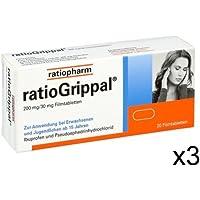 Grippal Ratio 3x20 Tabletten mit Ibuprofen und Pseudoephedrinhydrochlorid gegen Schleimhautschwellungen in Nase... preisvergleich bei billige-tabletten.eu
