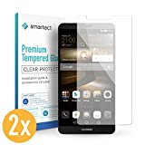 smartect Panzerglas für Huawei Ascend Mate 7 [2 Stück] - Bildschirmschutz mit 9H Härte - Blasenfreie Schutzfolie - Anti Fingerprint Panzerglasfolie