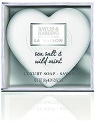 Baylis & Harding PLC Cadeau For Her la Maison Sea Salt & Menthe Sauvage Coeur de Luxe Savon Coffret Cadeau