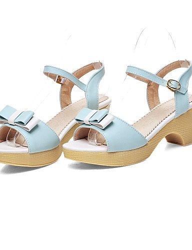 UWSZZ IL Sandali eleganti comfort DONNE - Scarpe col tacco - Zeppe - Zeppa Finta pelle - Blu/Verde/Rosa/Viola Blue
