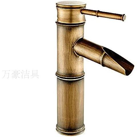 YanCui@ Solo agujero europeo cobre bambú antiguo grifo de agua fría , section 2