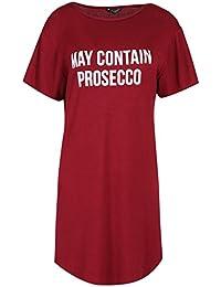 e1e9bf2c4245 Be Jealous Womens Ladies Shhh Its Too Early Oversized Long Curved Hem T Shirt  Mini PJ
