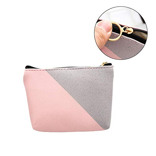 KFYOUXIN Damenbinde Tasche Datenclip Mäppchen Süße Geldbörse Große Kapazität Stifttaschen Selbstklebender Wire Organizer Wasserdichter Texture red