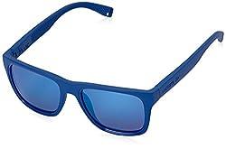 Lacoste Mens L816S Rectangular Sunglasses, Matte Blue, 54 mm