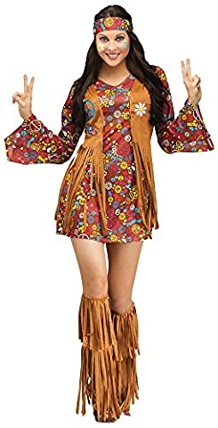 Girl Costume Hippie - Peace Hippy Ladies Fancy Dress 60s Hippie