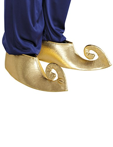 Sultan Genie Shoe Covers Adults Fancy Dress Arabian Book Day Costume (Kostüm Kostüm Sultan)