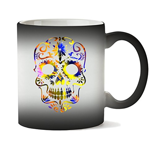 MugWorld Beautiful Death Tripy Acid Skull Taza Calor Cambio De Color