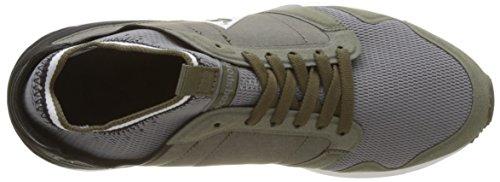 Le Coq Sportif Omicron Techlite, Baskets Basses Mixte Adulte Vert (Olive Night/Black)